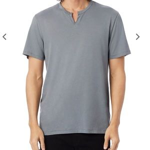 Heathered grey Moroccan Cotton T-Shirt | v neck